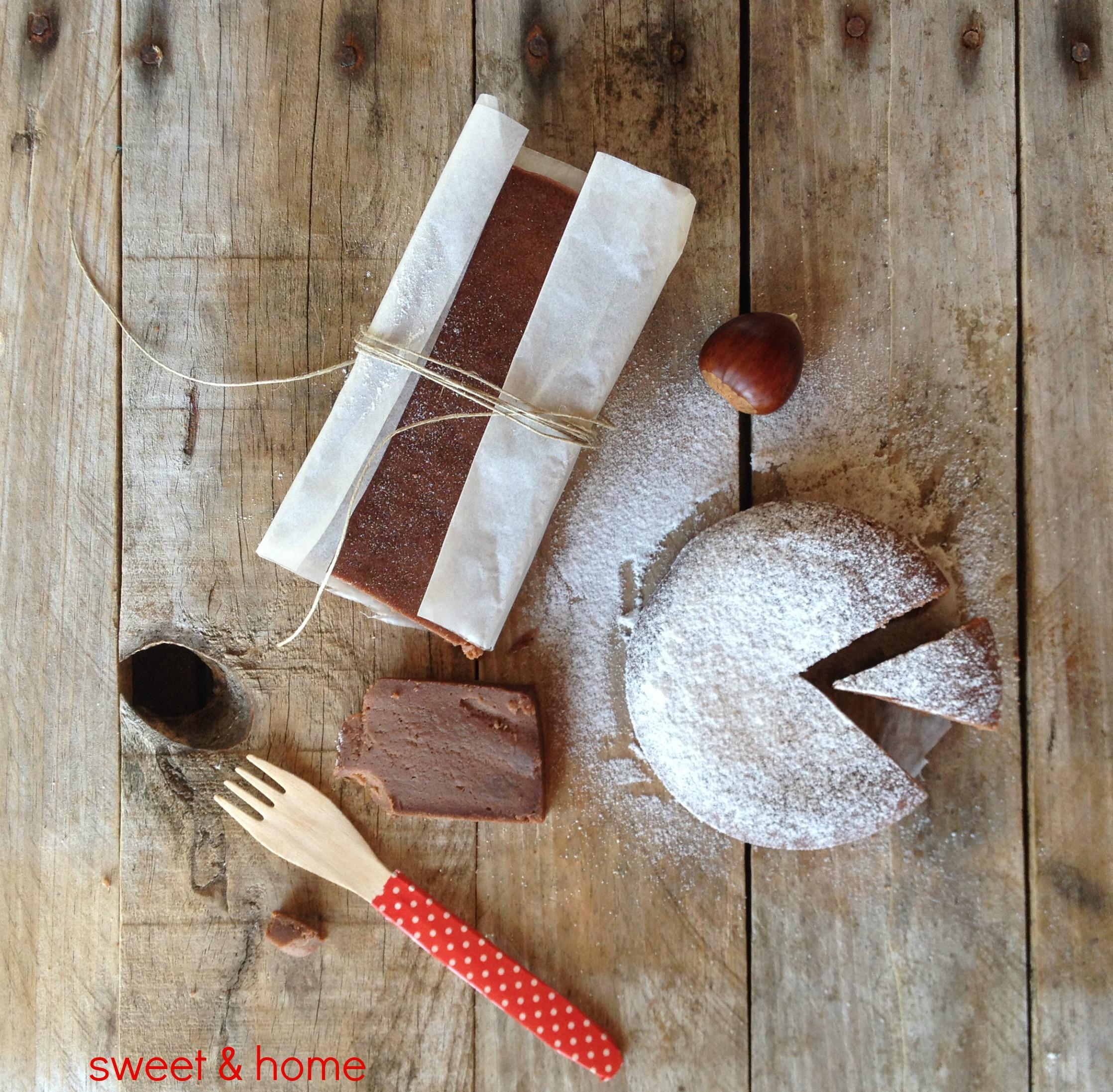 tarta de crema de castañas y chocolate