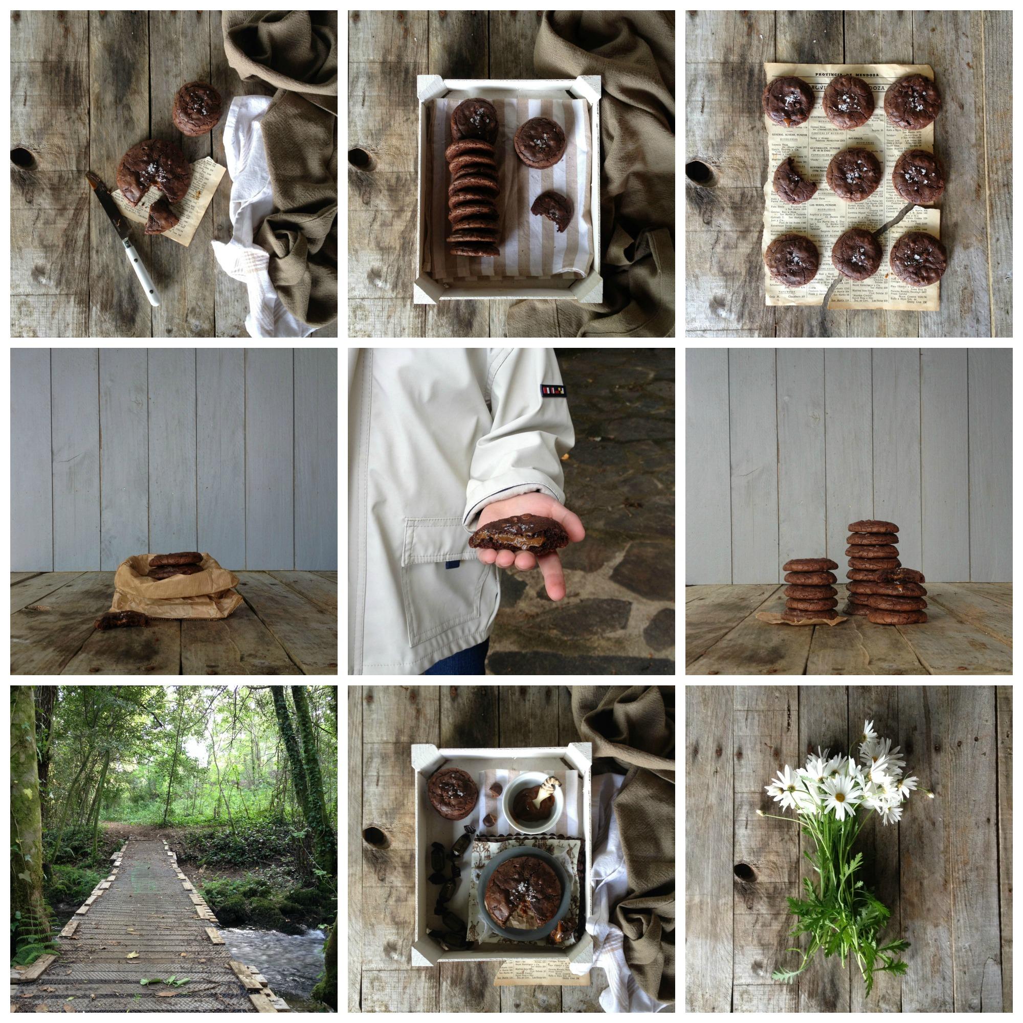 galletas de chocolate rellenas de dulce de leche