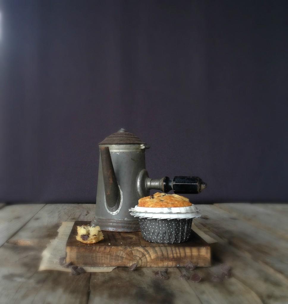 muffins de plátano y chocolate