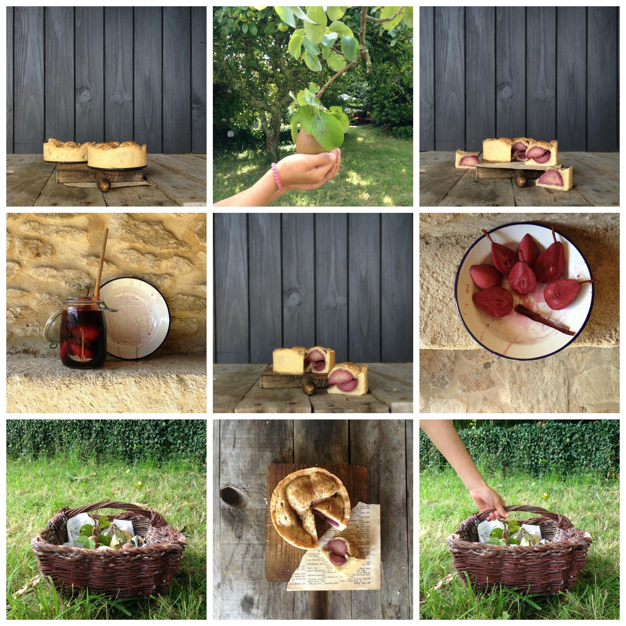 pastel de peras al vino