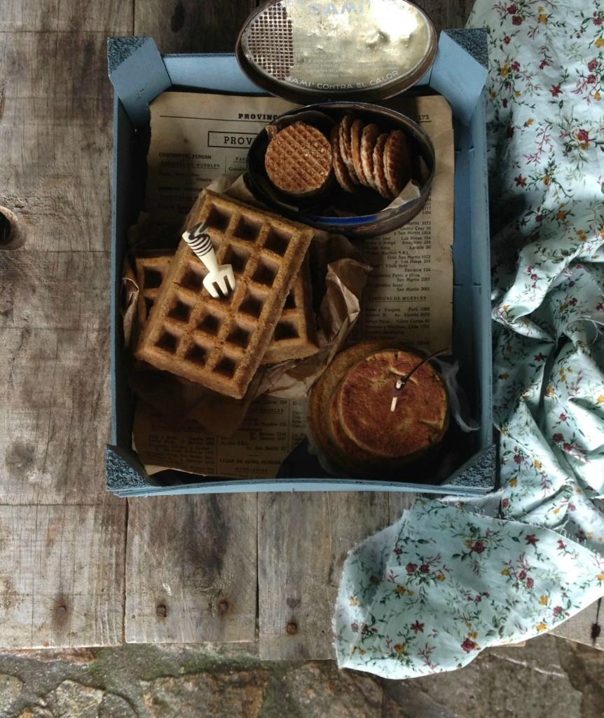 gofres y tortitas de calabaza