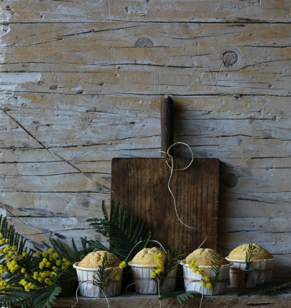 magdalenas de limón y semillas de amapola