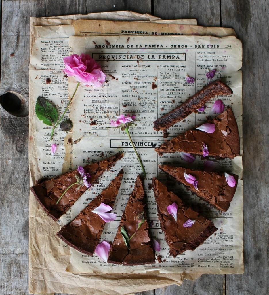 pastel de chocolate sin harina