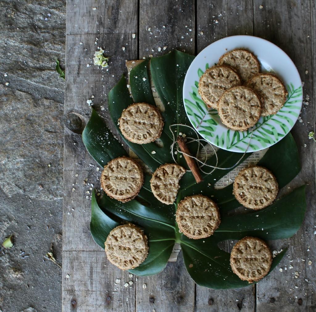 galletas de avena grabadas