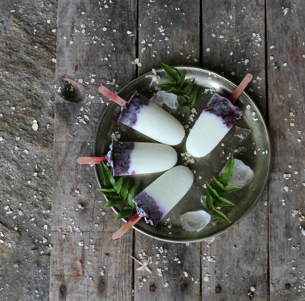 polos de yogur y frutas