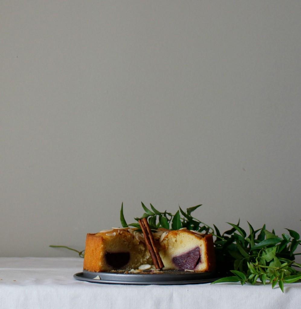 bizcocho de peras al vino